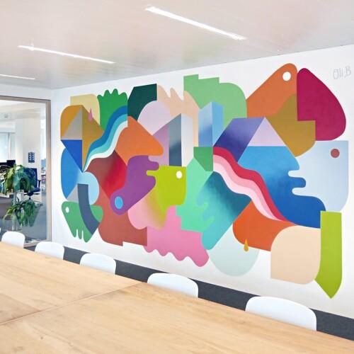 Adneom Brussels mural painting n°2
