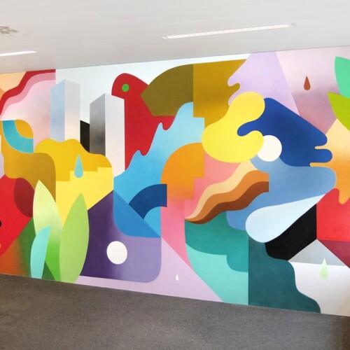 Adneom Brussels mural painting n°1